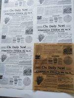 Újság nyomatos csomagoló