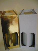 2 üveges boros dobozok