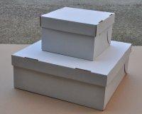 Fedeles süteményes- és tortadobozok (külön fedéllel)