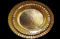 Arany kerek kartontálcák