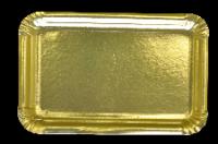 Szögletes arany kartontálca